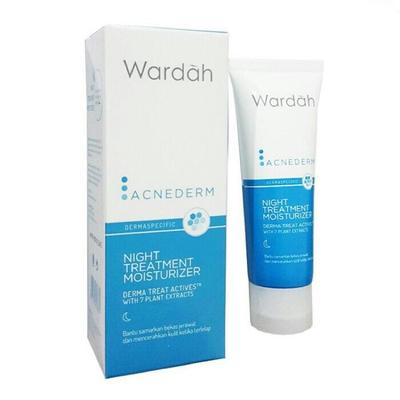 3.	Pelembab Wardah Acne Derm Night Treatment Moisturizer
