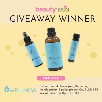 [GIVEAWAY ALERT] 5 Pemenang Giveaway Owellness! Intip Disini Yuk Ladies!