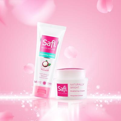 2. Safi White Natural Brightening Cream Mangosteen Extract