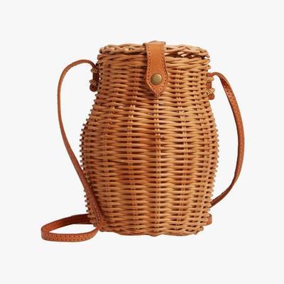 6.   Street Level Straw Crossbody Bag