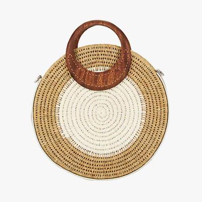 1.   Khokho Letta Circle Straw Tote Bag