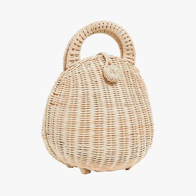 2.   Cult Gaia Millie Rattan Bag