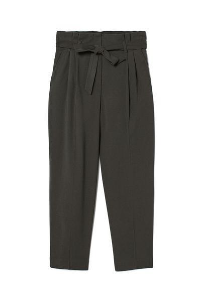 Ankle-length Tie-Belt Pants