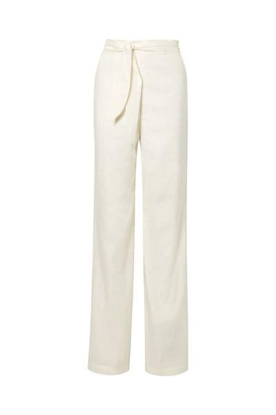 Melika Belted Linen-Blend Wide-Leg Pants