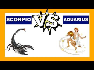 6. Aquarius (20 Januari - 18 Februari) vs. Scorpio (23 Oktober - 21 November)