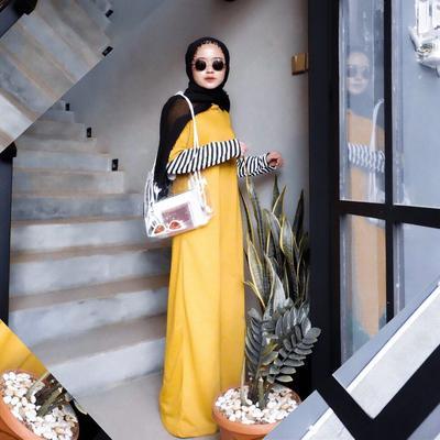 Simple Yellow Long Dress