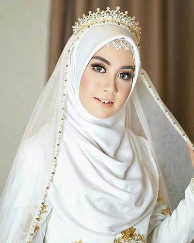 Hijab Pengantin Syari Menutup Dada Model Jilbab