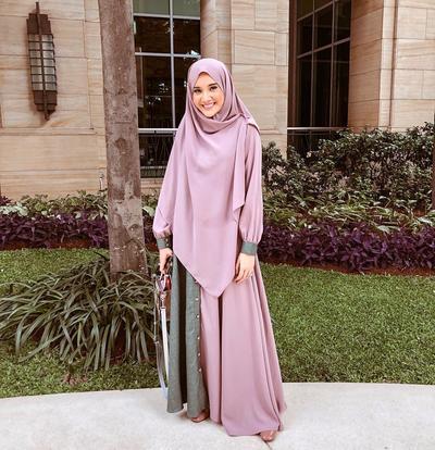 Syar'i Dusty Pink Simple Hijab