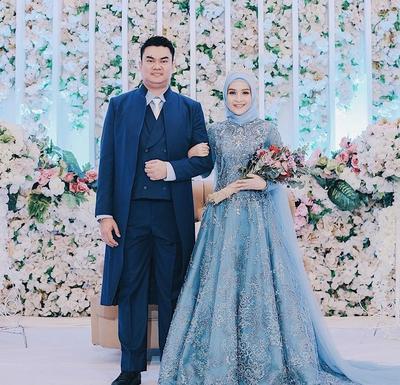 Cantik Dan Elegan 5 Warna Gaun Pengantin Wanita Berhijab Tren 2019