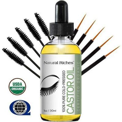 Natural Riches Pure Organic Castor Oil for Beautiful Lush Eyelashes & Eyebrows