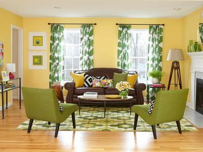 Pilih Gorden Bermotif Warna Hijau Senada dengan Karpet