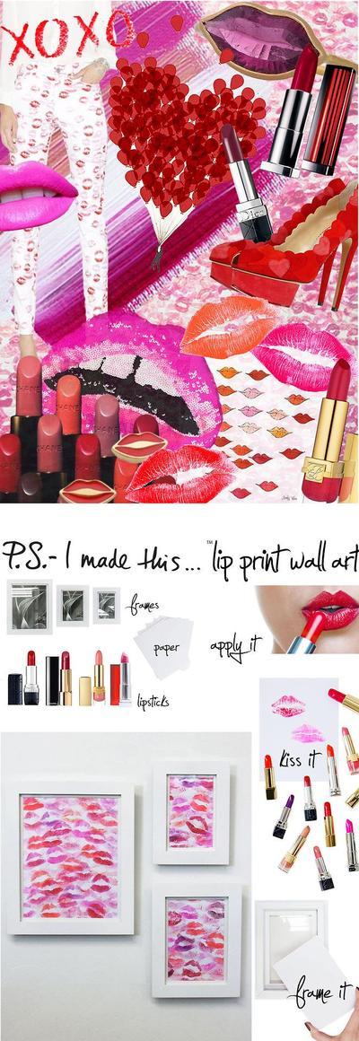 2. Lip Print Wall Art