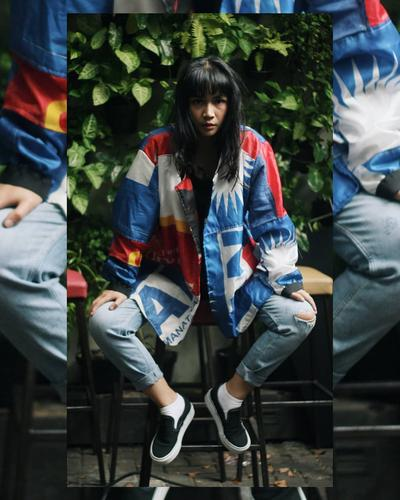 Fashion Update: Bendera Partai Bekas Disulap Jadi Jaket Hypebeast, Kreatif Anak Bangsa!