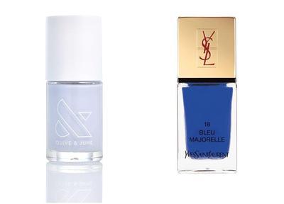 Pale Blue & Cobalt Blue