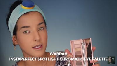 5. Gunakan Highlighter Wardah Instaperfect Spotlight Chromatic Eye Pallet