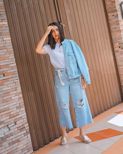 Pallazo Ripped Jeans