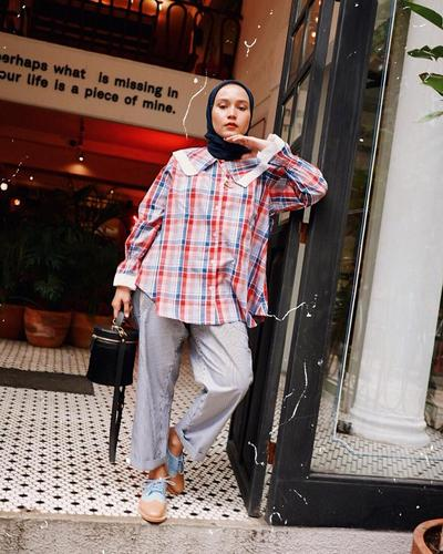 Kemeja Oversized and Grey Denim