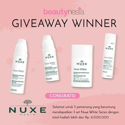 [GIVEAWAY ALERT] 3 Pemenang Giveaway Nuxe! Selamat Ya, Ladies!