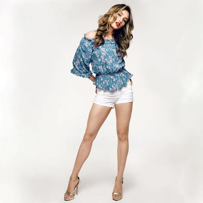 Hot Pants & Floral Blouse