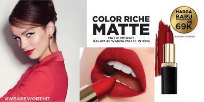 [GIVEAWAY ALERT] 20 Pemenang L'Oreal Color Riche Matte! Selamat Ya, Ladies!