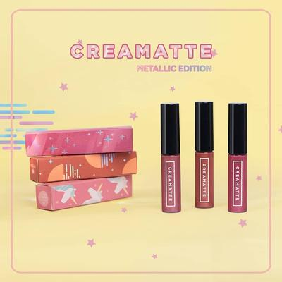 3 Warna Metallic dari Lip Cream Terbaru Emina, Cocok Dipakai Day to Night!