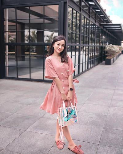 Dress Coral Pink