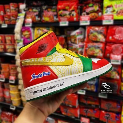 Proses Nike Jordan x Indomie Goreng