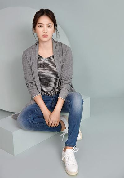 Grey Outer + Blue Jeans