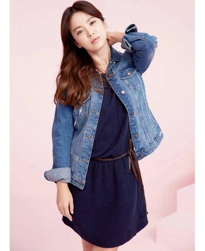 Plain Mini Dress + Denim Jacket