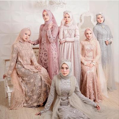 7 Padupadan Kebaya Modern dengan Hijab Warna Pastel untuk Kondangan