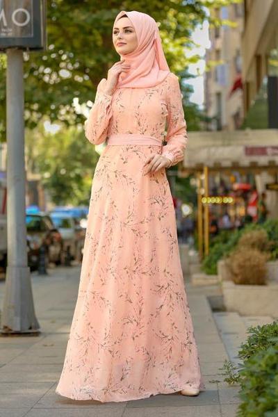 A-Line Peach Dress