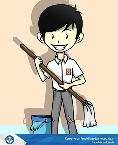 4. Piket kebersihan kelas