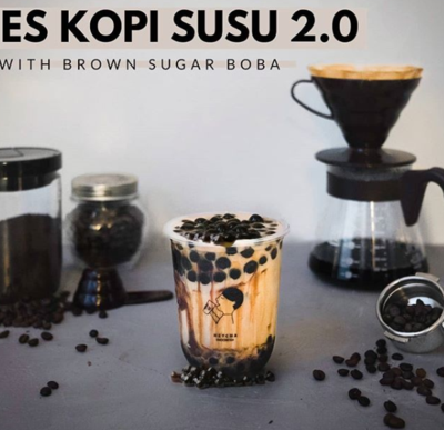 Es Kopi Susu with Brown Sugar Boba