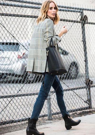 Jeans & Plaid Blazer