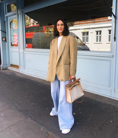 Blazer with Baggy Jeans