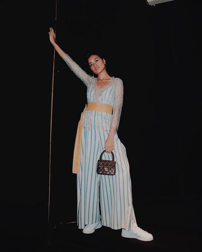 Stripped Jumsuit Palazzo Trousers