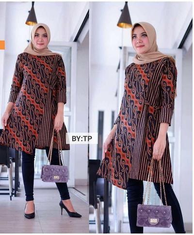 Model Baju Batik Atasan Model Baju Batik Panjang Selutut