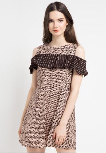 Off Shoulder Dress Batik