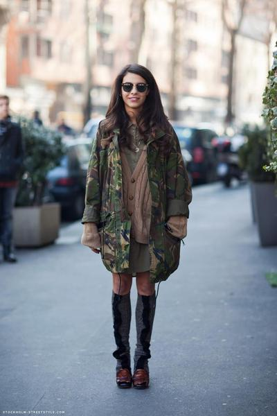 5. Parka, Sweater dan Oversized Shirt
