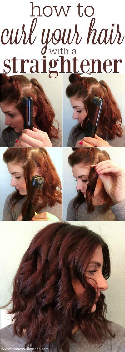 3. Gaya rambut spiral untuk rambut pendek