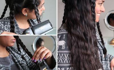 4. Gaya rambut crimped waves si kusut gemas