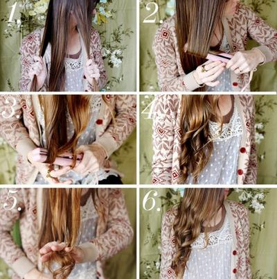 5. Gaya rambut ikal di bawah untuk kesan cute