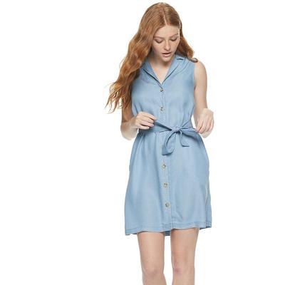 1. Mini Shirt Dress with Button