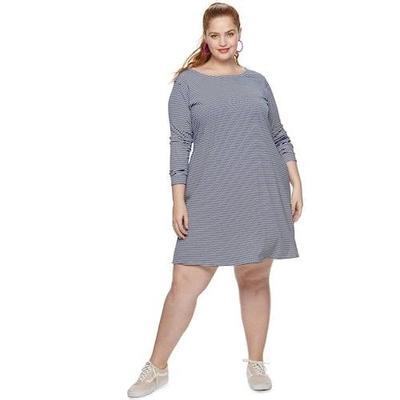 2. Stripe Tee Dress