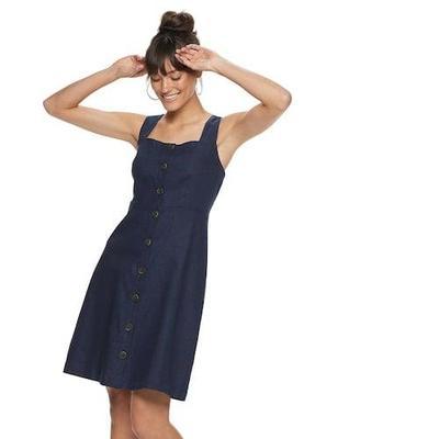 4. Button Up Midi Dress
