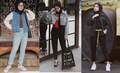 Ingin Tampil Chic dengan Jaket Denim? Intip Inspirasi Gaya Hijabers Ini