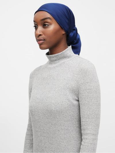 Banana Republic Soft Satin Square Hijab (indigo)