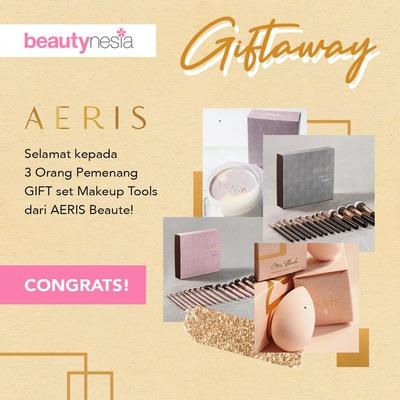 [GIFT-AWAY] 3 Pemenang Beruntung Gift-Away : AERIS BEAUTÉ! Intip Disini Yuk, Ladies!