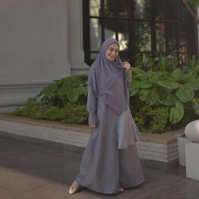 Gamis kombinasi ala Ramita Nasution