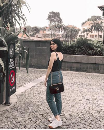 5. Gucci Marmont Velvet Shoulder Bag